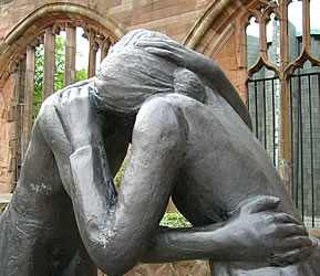 Image result for forgiveness hug statue