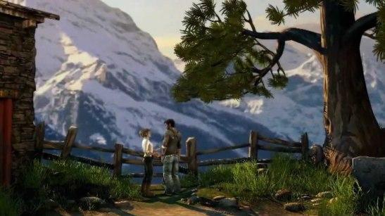 Uncharted 2 Village Mountain Scene